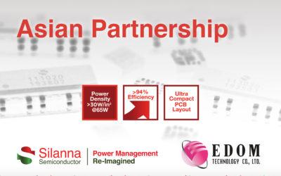 [CHI] Silanna Semiconductor宣布与亚洲卓越代理商益登科技合作
